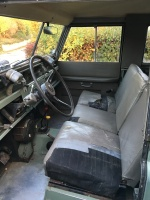 Front seat, battered but original