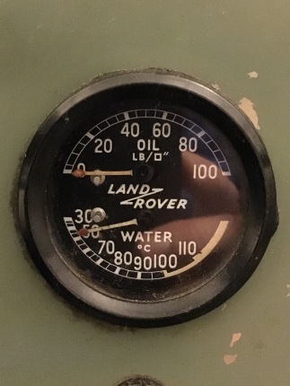 Oil pressure and water temp gauge ... before