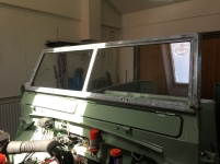 Windscreen frame in place
