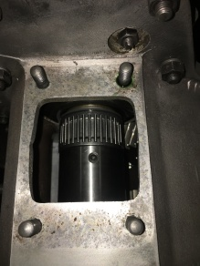 New overdrive coupling fixed in place behind the oil finger