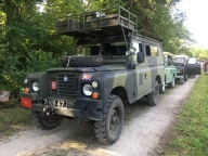 Ex UK military Carawagon. Still with military insignia